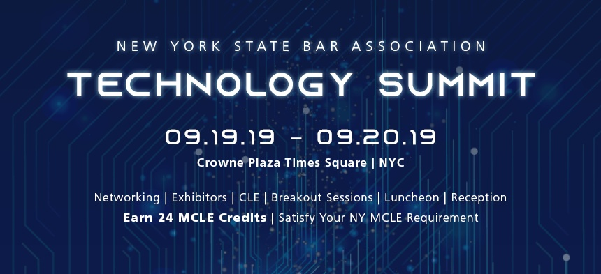 First Ever 2019 NYSBA Technology Summit